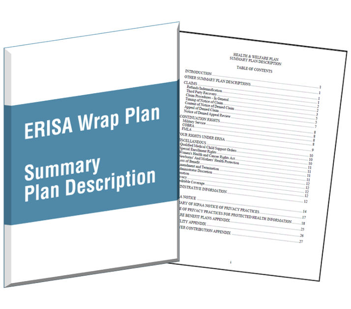 Wrap document for Section 125 plan document template